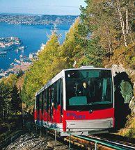 Die Standseilbahn Fløibanen in Bergen, Norwegen - Foto: Fløibanen/Pål Hoff