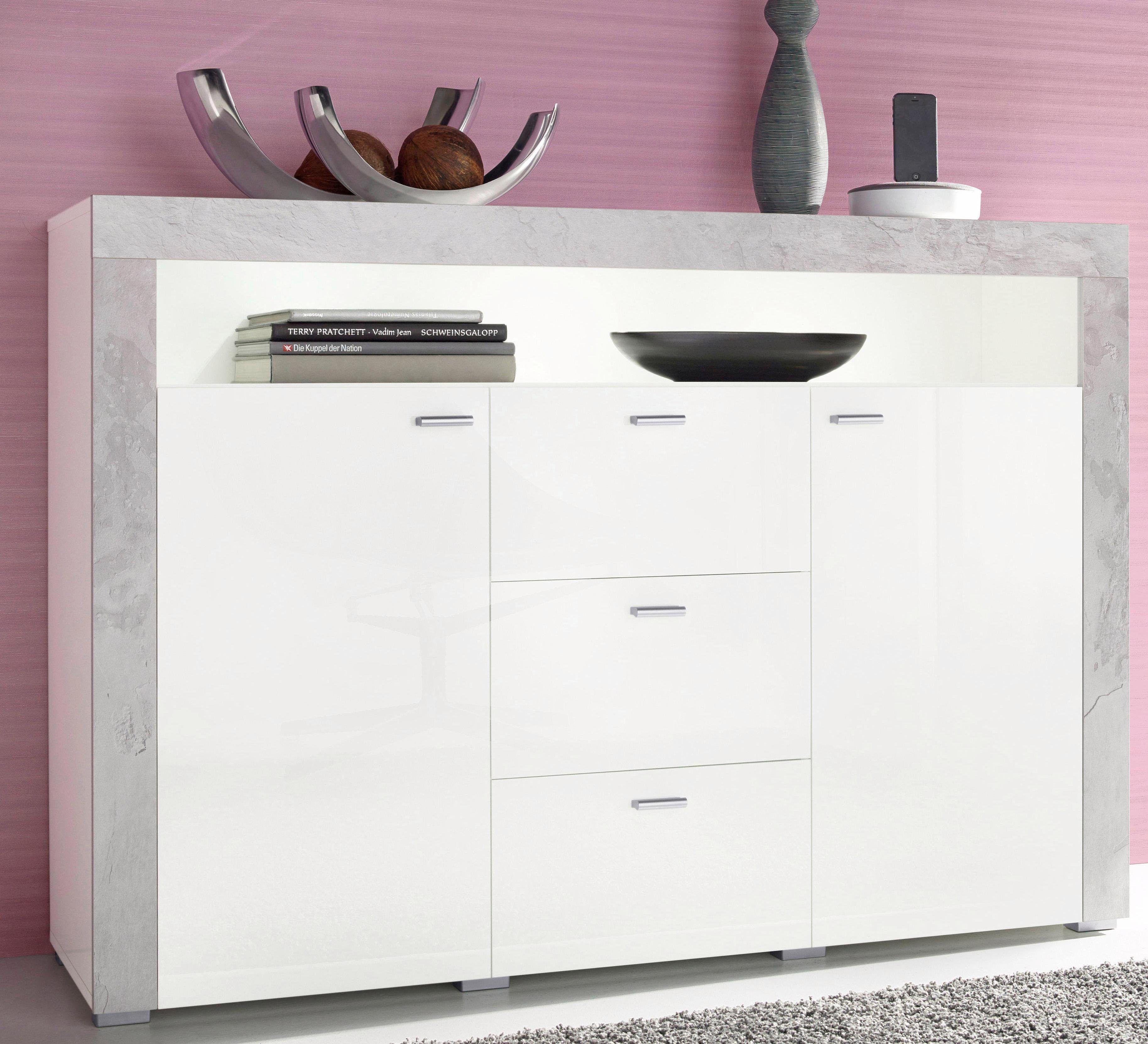 Sideboard Weiß, Hochglanz Fronten, FSC® Zertifiziert, Yourhome Jetzt  Bestellen Unter