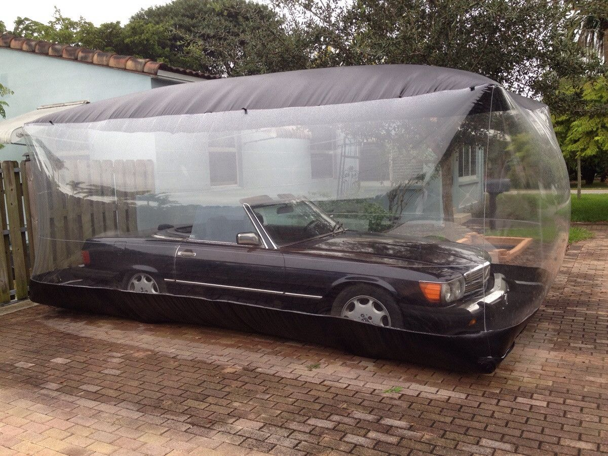 This Guy Keeps His Old Mercedes In A Bubble Interior Design