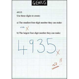 Maths Formula Funny Genius Greeting Card Blank Inside Birthday Or Any Occasion