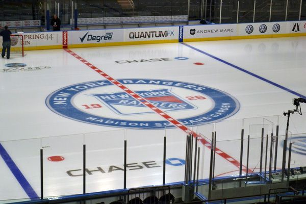 Pictures of the new madison square garden center ice at the new madison square garden malvernweather Choice Image