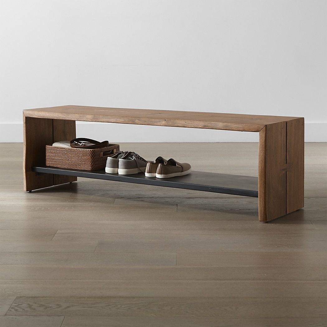 Yukon Natural Entryway Bench With Shelf Reviews Crate And Barrel Entryway Furniture Entryway Bench Entryway Benches