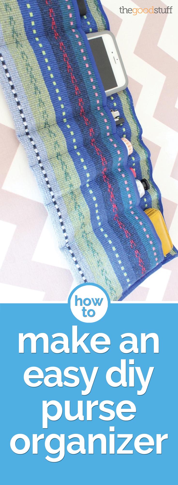 How to Make an Easy DIY Purse Organizer | Organizer, Nähe und ...