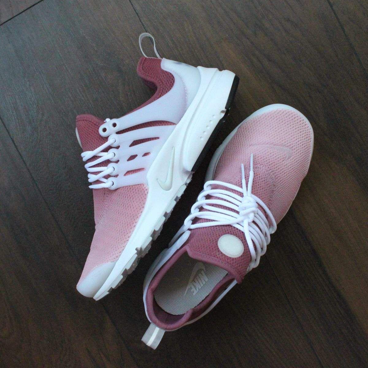 Nike Presto Red Rose Custom Sneakers