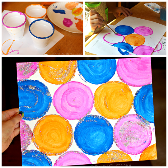 Make This Circle Cup Painting With Your Kids It S So Easy And It