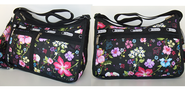 Lesportsac Deluxe Everyday Bag 2 Piece Tropical Fl Hawaii Exclusive