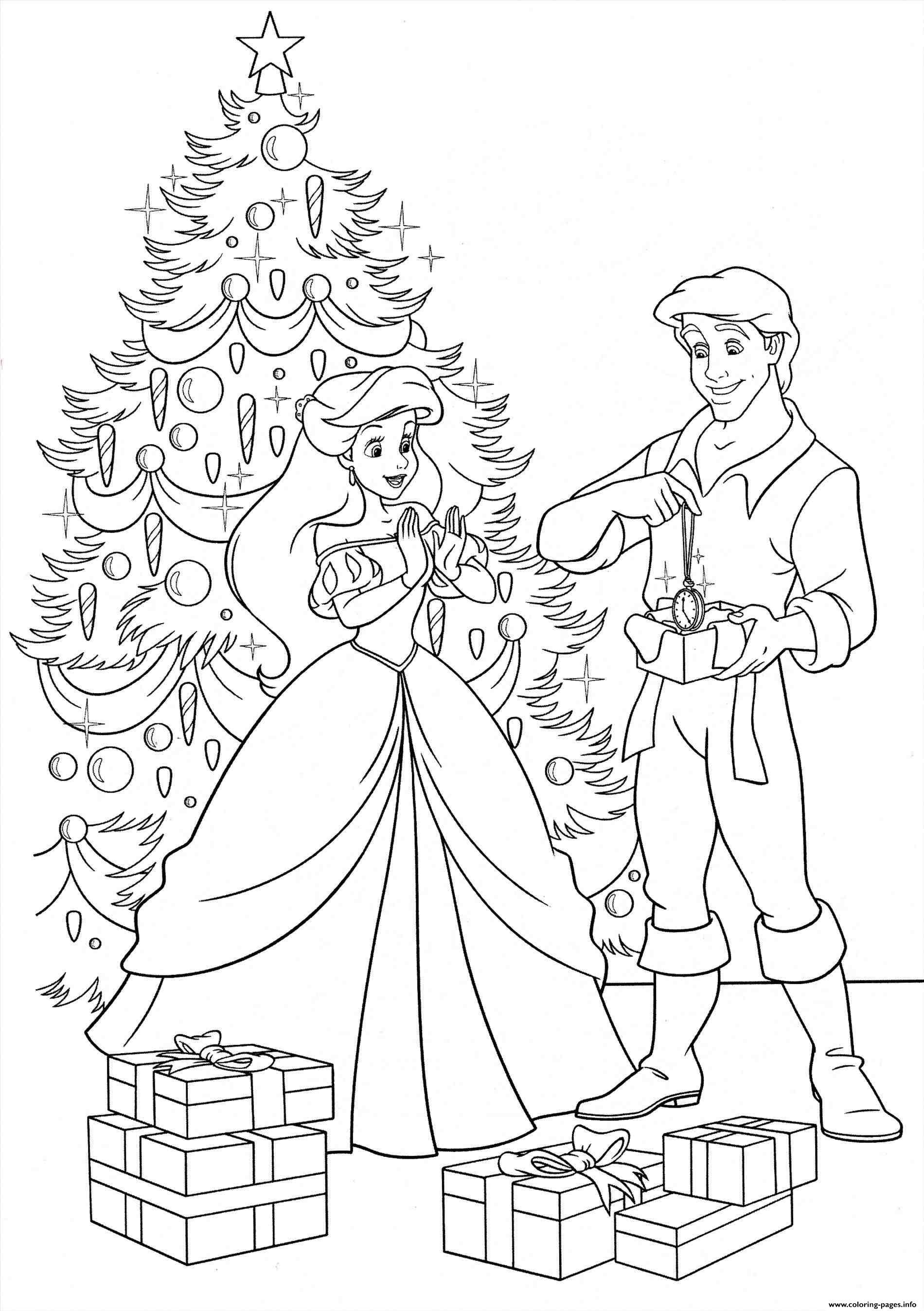 Print Disney Princess Christmas Gifts Coloring Pages Mermaid Coloring Pages Disney Princess Coloring Pages Princess Coloring Pages