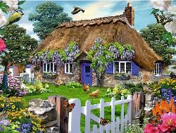Cottage in England Cottage/Cabin Jigsaw Puzzle