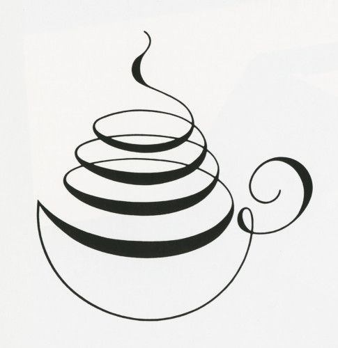 Calligraphy Coffee Cup Love This As A Logo Fancy Beans And Tea Bar