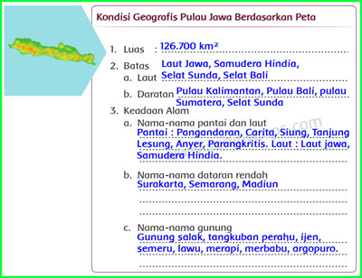 Kondisi Geografis Pulau Jawa Berdasarkan Peta Belajar Kurikulum Halaman