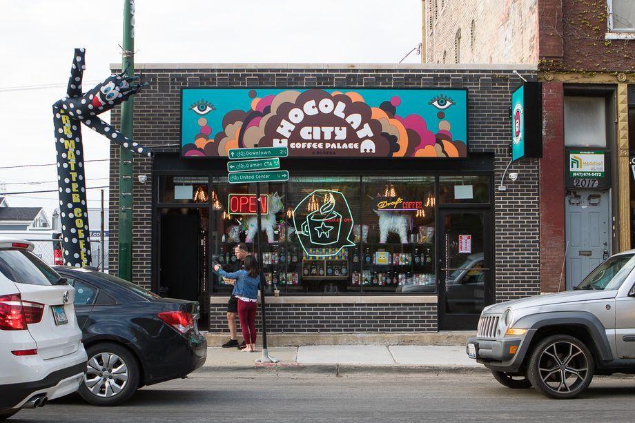 Dark Matter Coffee Opens Chocolate City Coffee Palace And Bodega Eater Chicago Dark Matter Coffee Dark Matter West Town