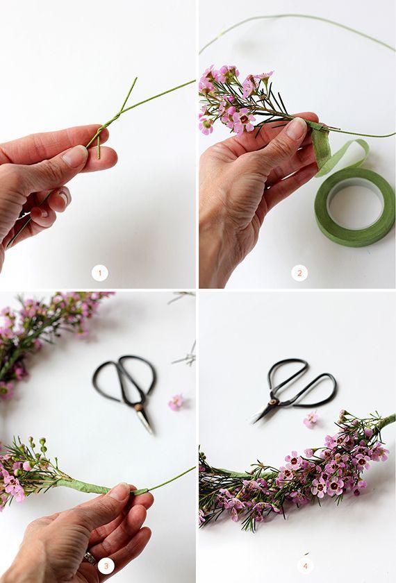 DIY: Wie man eine Frühlings-Blumen-Krone macht - Selbermachen #frühlingblumen