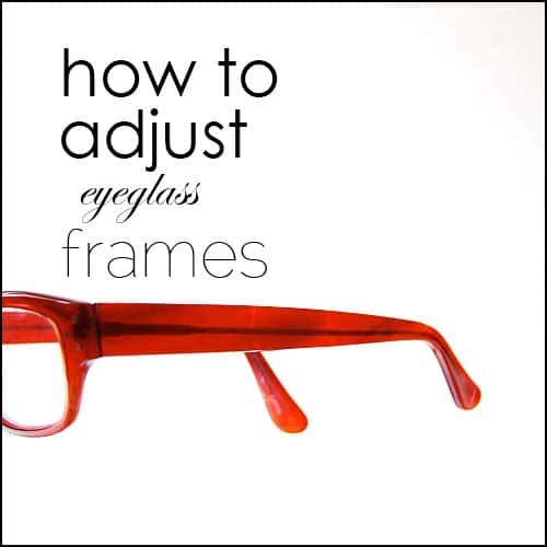 How To Adjust Eyeglass Frames That Keep Slipping Off Your Face Eyeglasses Eyeglasses Frames How To Tighten Glasses