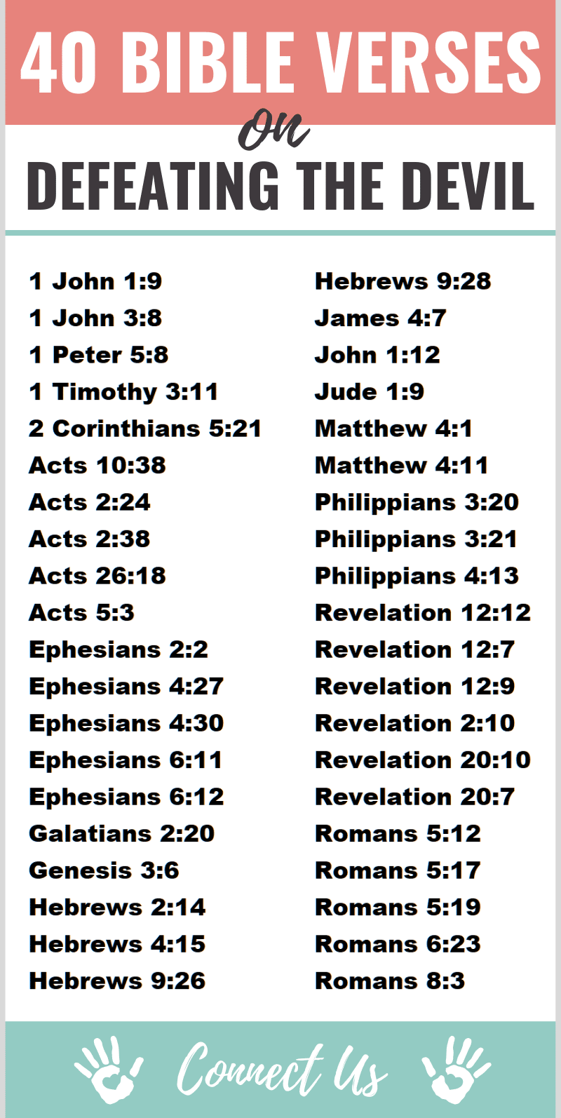 40 Powerful Bible Scriptures on Defeating the Devil