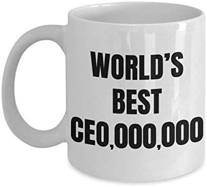 Amazon.com: CEO Mug Worlds Best Future Boss Coffee Cup Funny Novelty Gift Idea For Chief Executive Officer 11 oz: Kitchen & Dining #bosscoffee