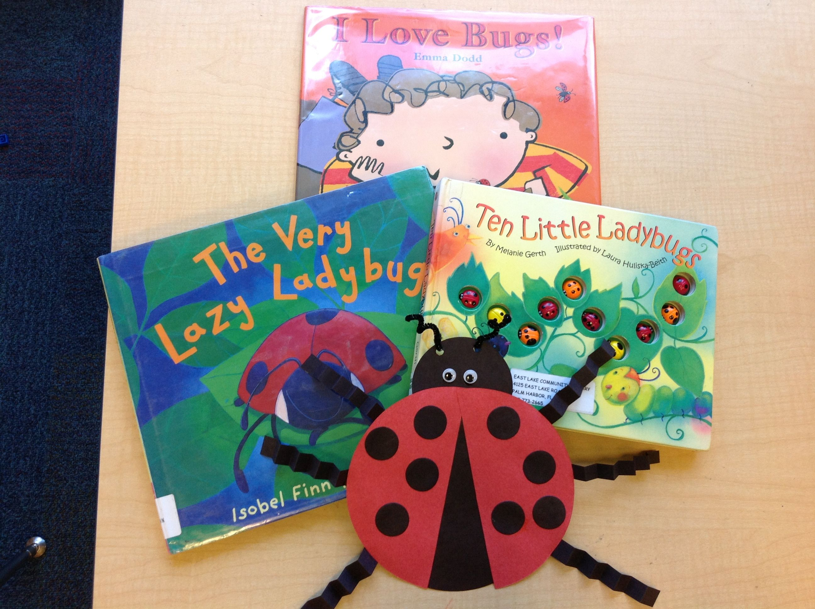 Very Simple Ladybug Craft Made With Circles Half Circles
