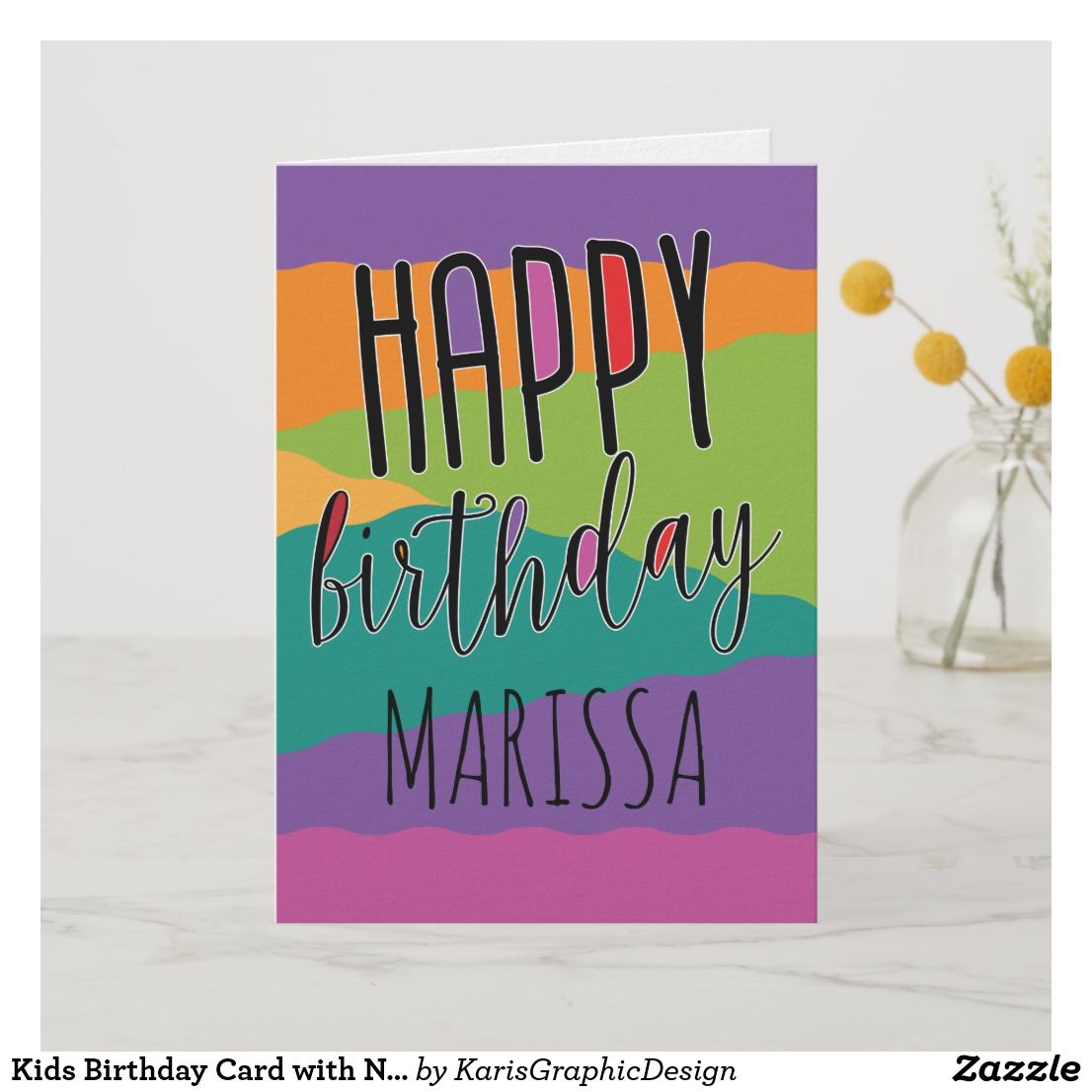 Kids birthday card with name birthday cards gifts cakes