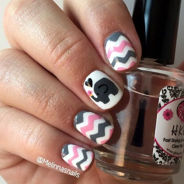 45 Cute Animal Nail Art Prints Thatre Truly Inspirational Nail