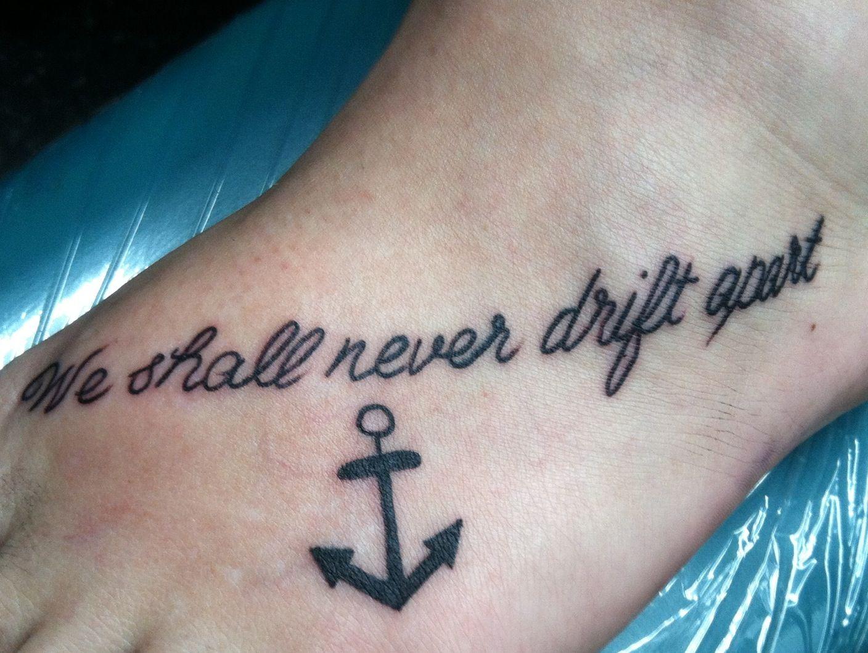 Anchor foot tattoo best friend tattoo matching tattoo | Tattoos | Pinterest | Anchor foot ...