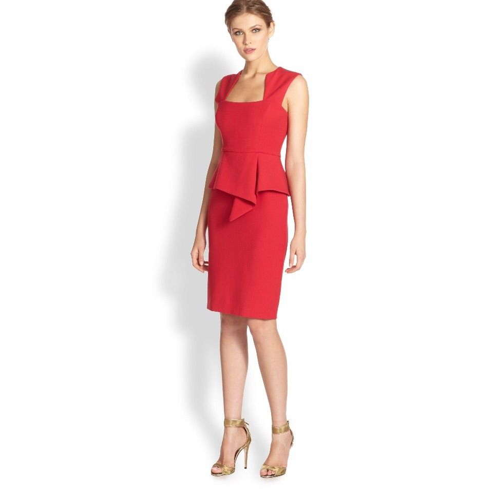 Bcbg Max Azria Red Peplum Dress Size 4 | Products | Pinterest | Red ...