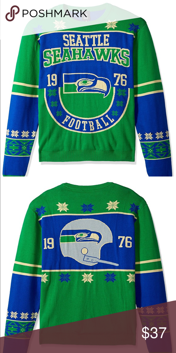 vintage nfl seattle seahawks sweater nwt holiday seattle seahawks vintage christmas sweater brand new w tags size xl no doubt you will have the best - Seahawks Christmas Sweater
