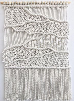 Woven Wall Hanging Macrame Tapestry Textile Knot Art
