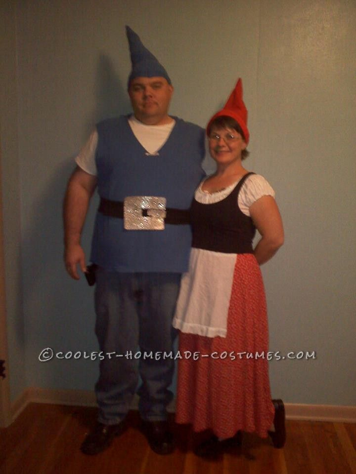 easy last minute couple halloween costume gnomeo and juliet last minute costume ideas. Black Bedroom Furniture Sets. Home Design Ideas