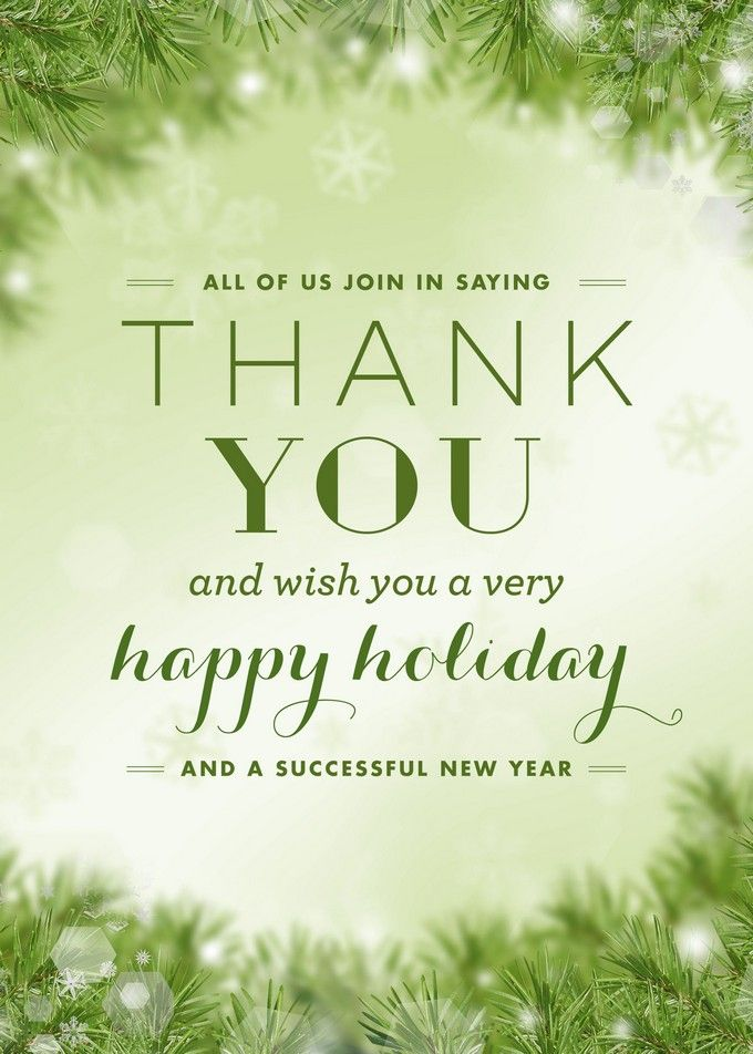 Business thank you holiday greeting card holiday cards ideas business thank you holiday greeting card colourmoves