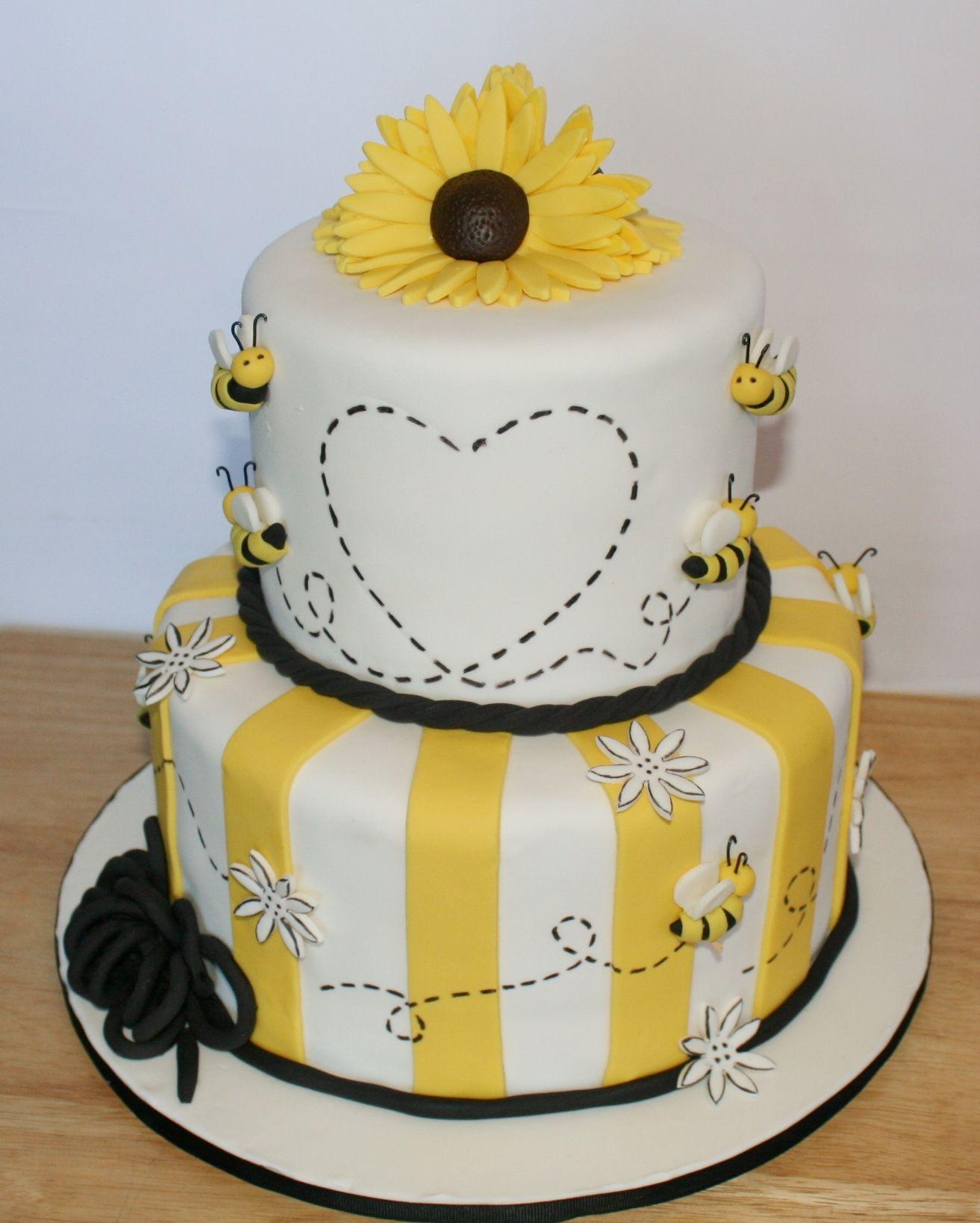 Honey Bee Baby Shower Cake By KB Cakes KBCakesme Facebook