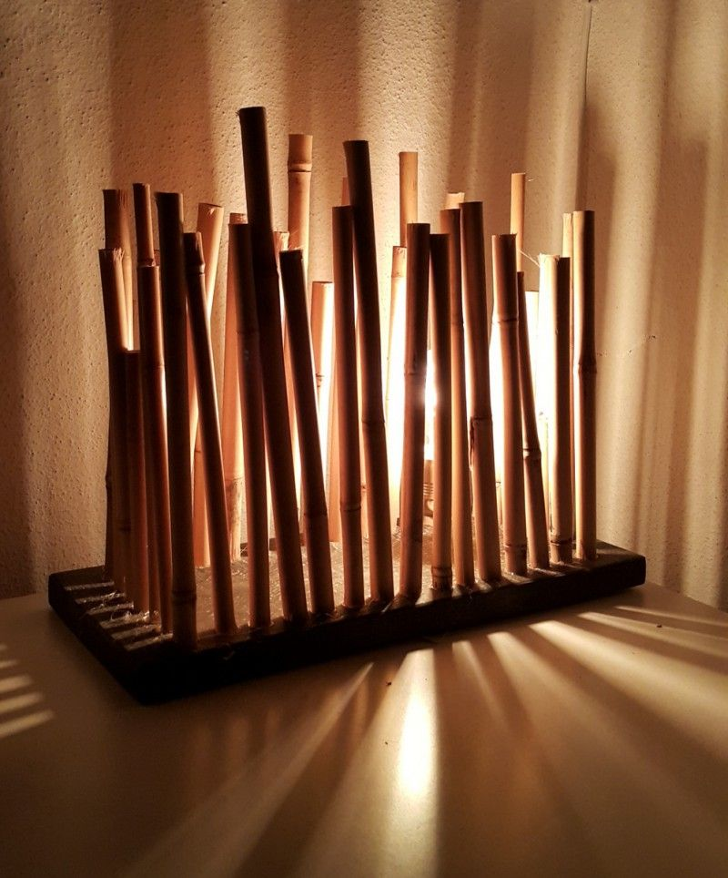 Bamboo Table With Design: Bamboo Table Lamp