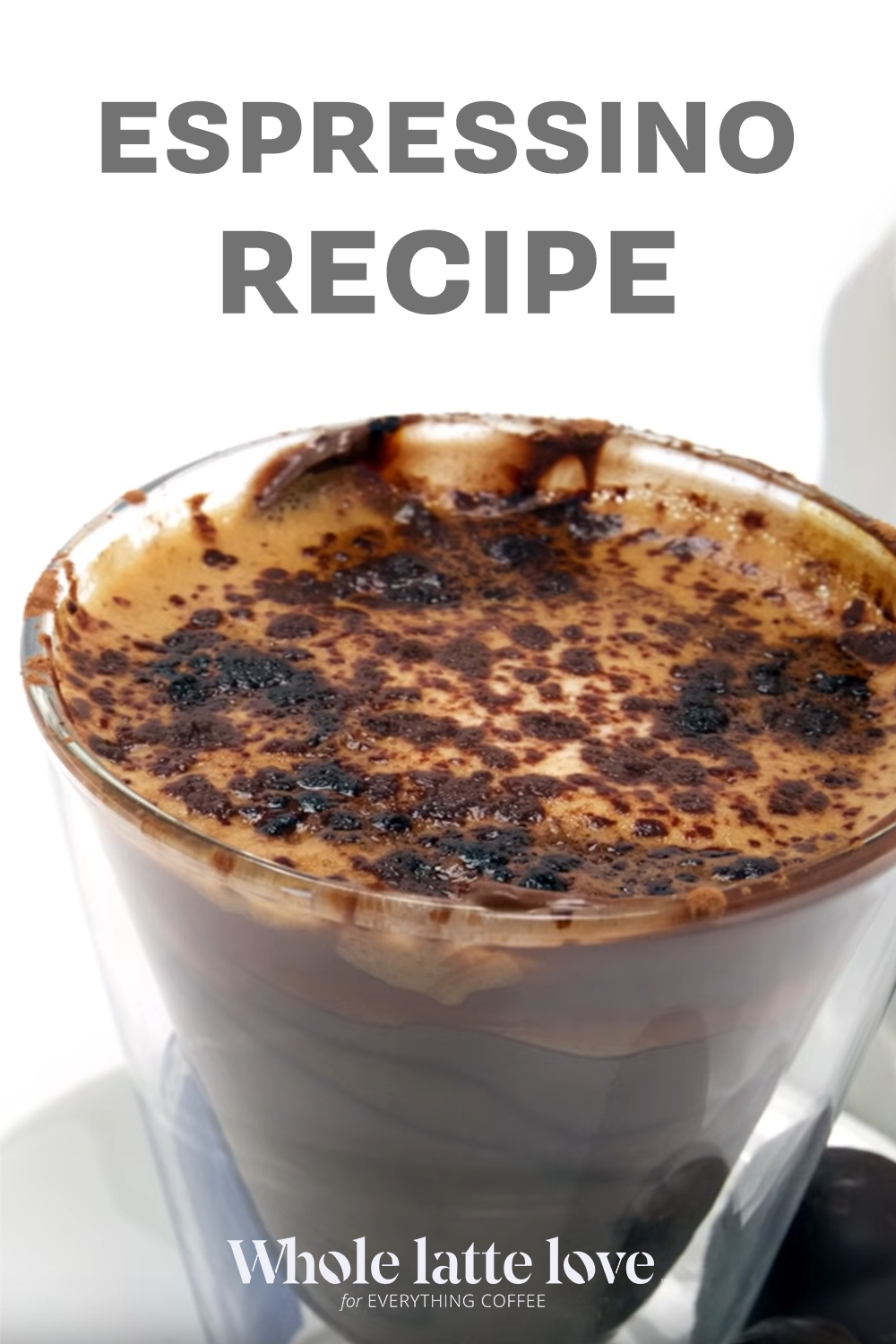 Whole Latte Love shows you how to make an espressino. This