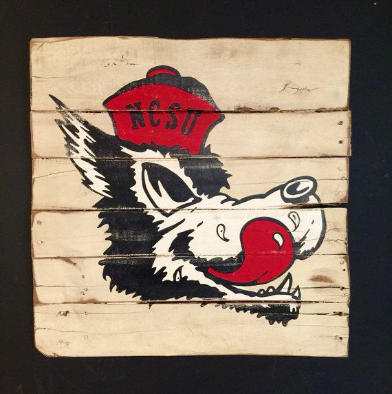 North Carolina State Wolfpack Sign Nc State University Wall Hanging Etsy Wall Art State Wall Art Nc State University