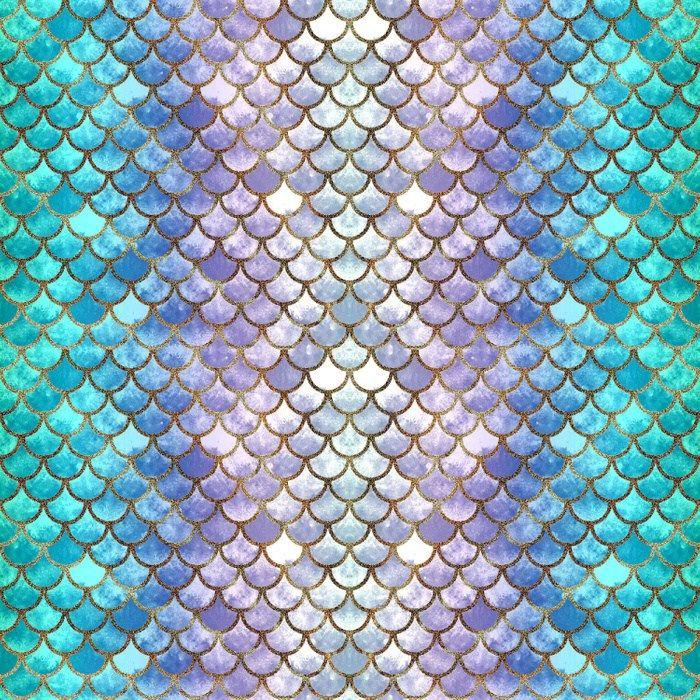 Pretty Mermaid Scales Duvet Cover Mermaid scales