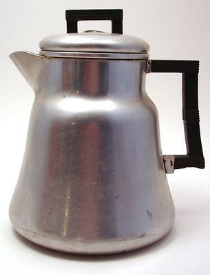 Wear Ever Aluminum Vintage Percolator Coffee Pot Glass Viewing