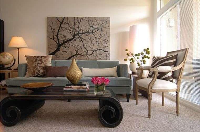 Parete Colorata Dietro Il Divano : Disporre i quadri sopra un divano nel paintings living