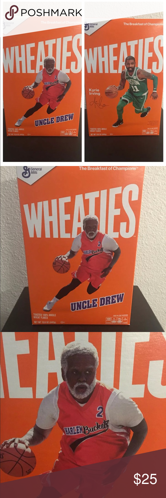 huge selection of 7f620 fa72d Wheaties uncle drew / Kyrie Irving cereal box NEW For sale ...