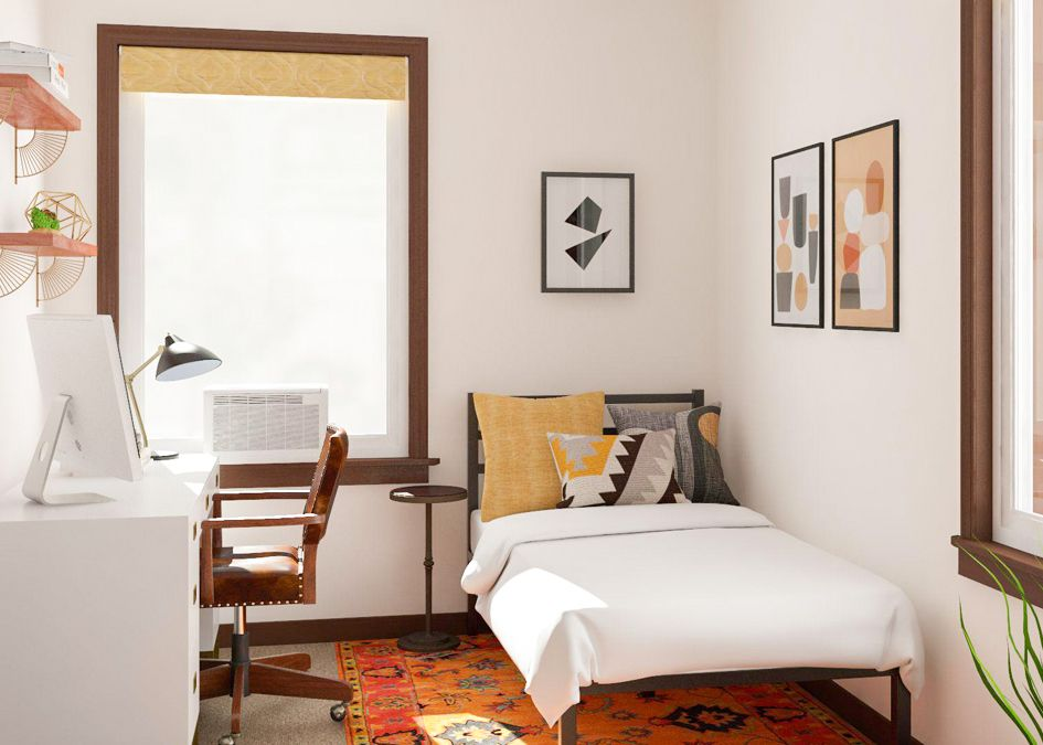 Simple Office Meets Guest Room Decorating Ideas Small Guest