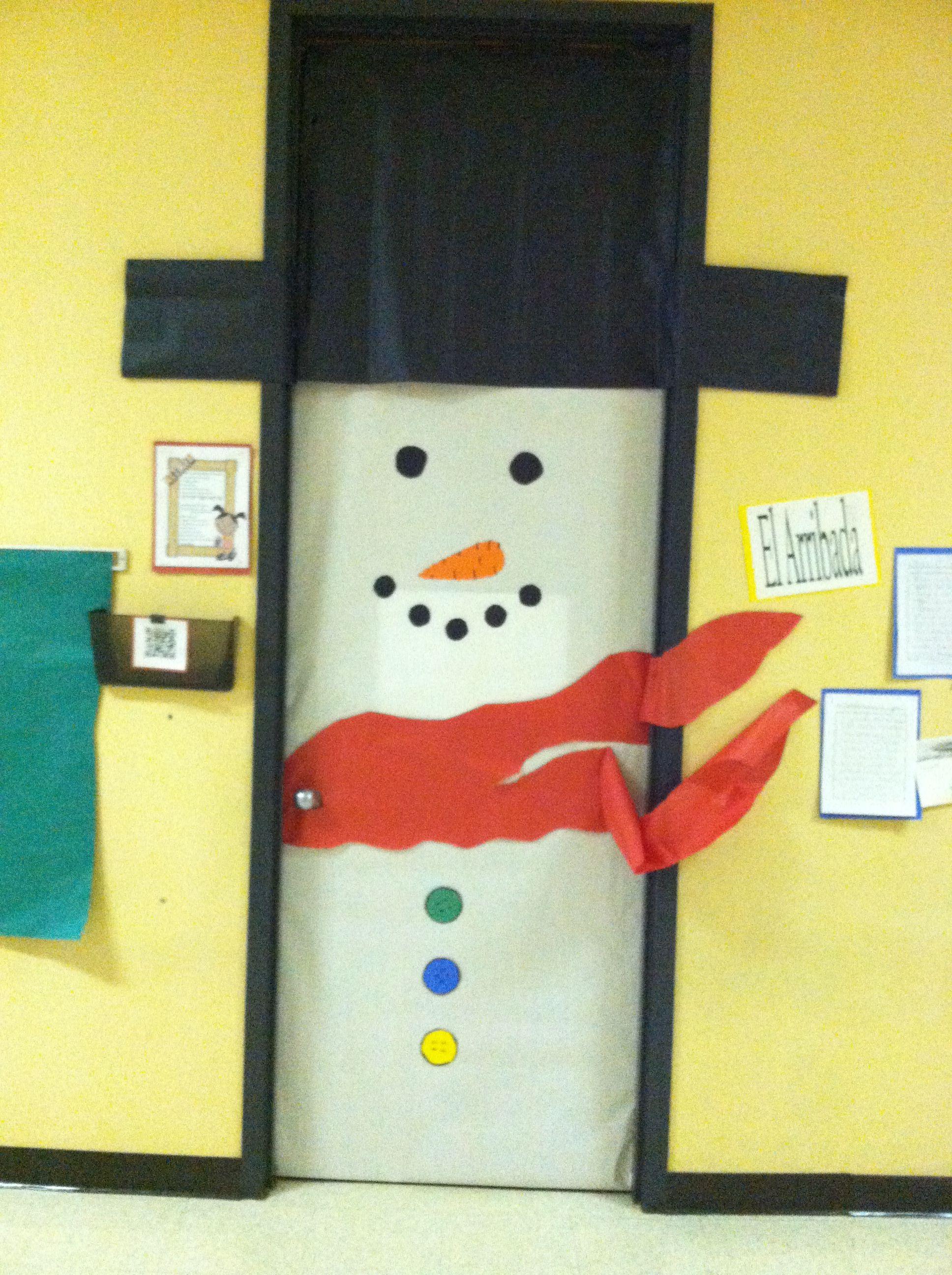 My classroom door decorated for christmas door decorating ideas