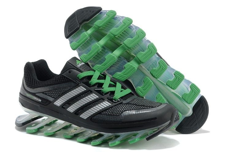 Authentic Adidas Mens Springblade Black Grass Green running shoes sports  shoes Regular Price: $180.00 Special
