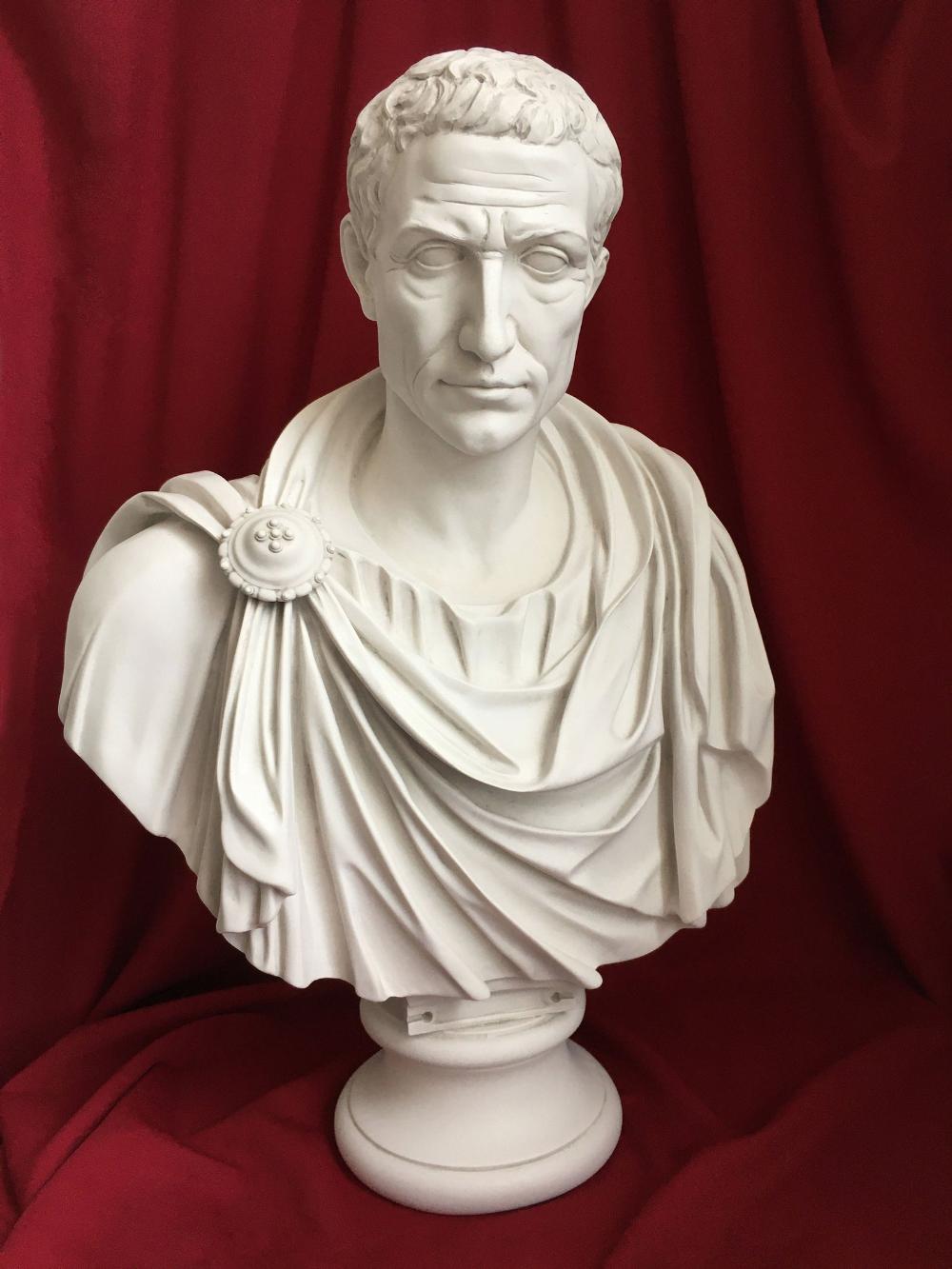 Julius Caesar In Toga Marble Bust Sculpture Large 80 Cm 31 5 Bust Sculpture Marble Bust Roman Busts