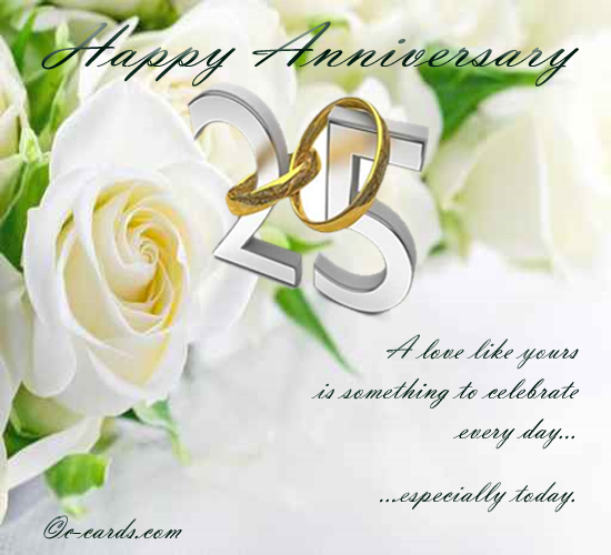 Silver Wedding Anniversary Wedding Anniversary Wishes Silver Wedding Anniversary Happy 25th Anniversary