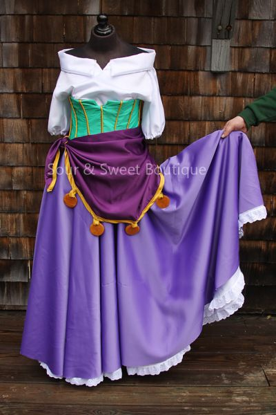 Esmeralda Cosplay Costume Tutorial (The Hunchback of Notre Dame) & Skirt out to the side Esmeralda | Halloween: Itu0027s Not Just For Kids ...