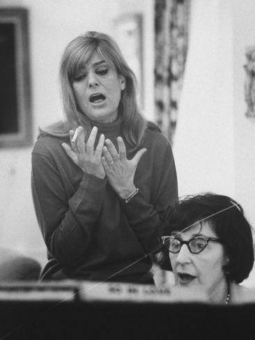 Susan Seton Rehearsing With Melina Mercouri Melina Mercouri I