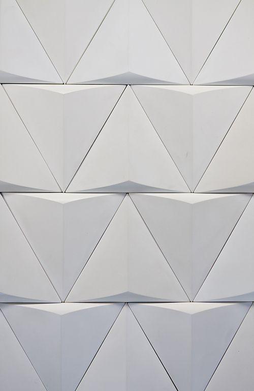 Modular Wall Panel Surface Triangular Wall Tiles Black And White Parametric Geometric Cnc Wall Pattern Design Luxu Wall Paneling Wall Patterns 3d Wall Tiles