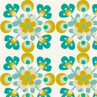 Love this print!  Too yellow for us, but so beautiful (by Victoria Snape)...found her from Print & Pattern blog