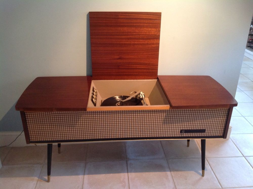 Pye Black Box Vintage Sideboard Record Player Rock N Roll