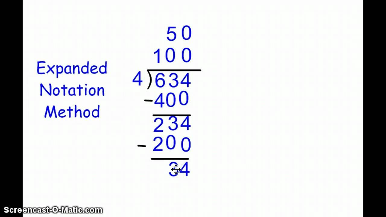 Grade 4 division expanded notation method 1 school math help grade 4 division expanded notation method 1 falaconquin