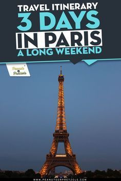 Travel Itinerary: 3 Days in Paris - a Long Weekend #3dayweekendhumor Many travelers to Europe will make the rounds to big cities, like Paris, but only have a few days to visit.  However, people living in the States who are just looking for a long weekend getaway shouldn't overlook cities in Europe.  It is totally possible to squeeze in a long weekend trip, like 3 days in Paris, and have a wonderful experience. #3dayweekendhumor Travel Itinerary: 3 Days in Paris - a Long Weekend #3dayweekendhum #3dayweekendhumor