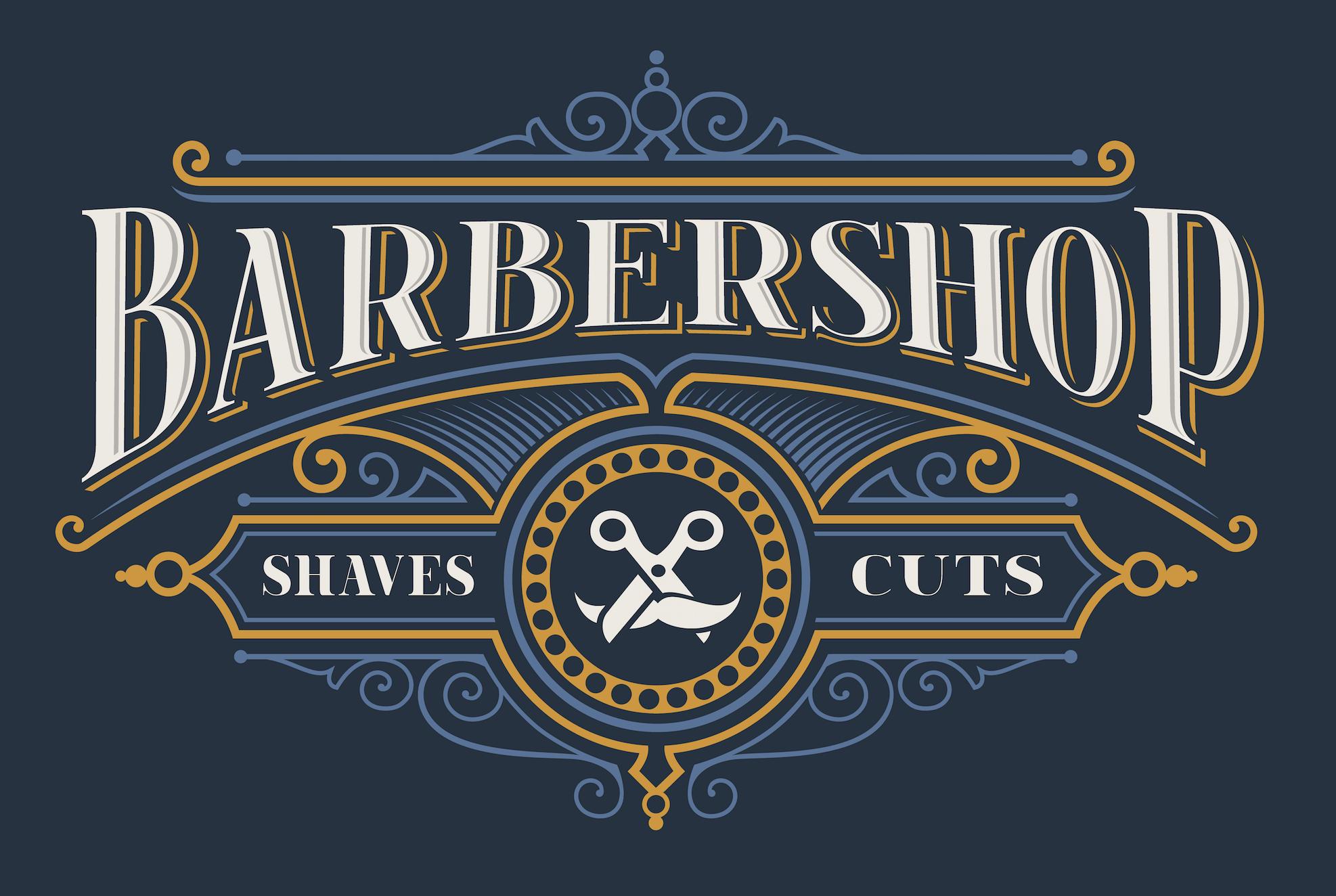 Vintage Lettering For The Barbershop On The Dark Background Parikmaherskaya Vintazhnoe Tisnenie Vintazh Dizajn Logotipa