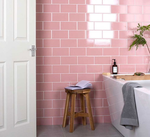 Pink Tiles Designs Choose Tiles Pink Color For Creating Lovely Room Hanseceramictile Trendy Bathroom Tiles Pink Bathroom Tiles Bathroom Interior Design